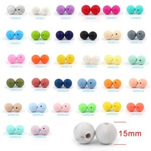 Image 5 - * 500 adet bebek silikon boncuk BPA ücretsiz 15mm yuvarlak boncuk bebek diş çıkartma oyuncakları DIY emzik zinciri araçları çiğneme bebek dişlikleri