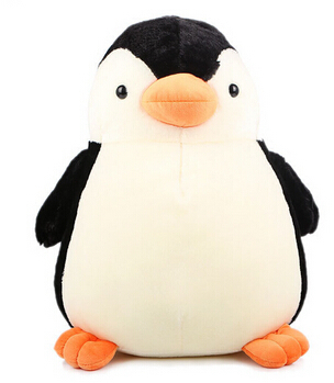 1Pcs 28cm Cute Penguin Stuffed and Plush Toys Soft Doll for Children Christmas Best Gifts for Children Real Photos image