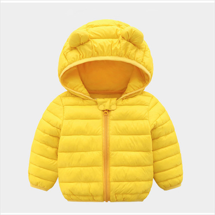 Fanfiluca Toddler Coat Black Hooded Warm Winter Coat Girls Cotton Waistcoat Infant For Baby Boy Jacket Kids Parka Outerwear007
