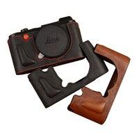AYdgcam Marka Hakiki Deri Kamera çantası Çanta El Yapımı Yarım Vücut Için Alt Kapak Leica CL Açık Pil Tasarımı