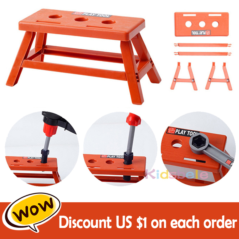 Clearance SaleKids Toolbox Kit Educational Toys Simulation Repair Tools Toys Drill Plastic Game Learning Engineering Puzzle Toys Gifts For Boy
