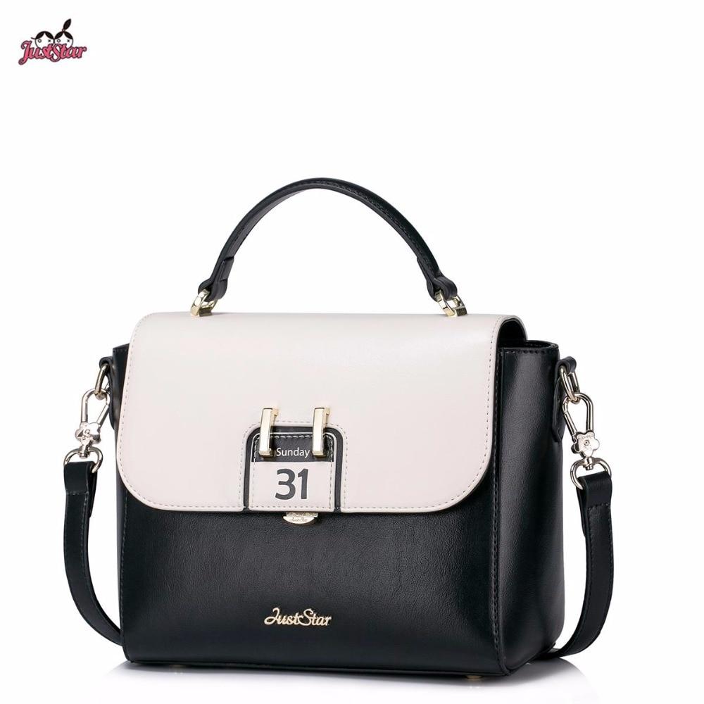 ФОТО Just Star Brand Design Collage Calendar Fashion Color Blocking PU Women Leather Girls Ladies Handbag Shoulder Crossbody Bags