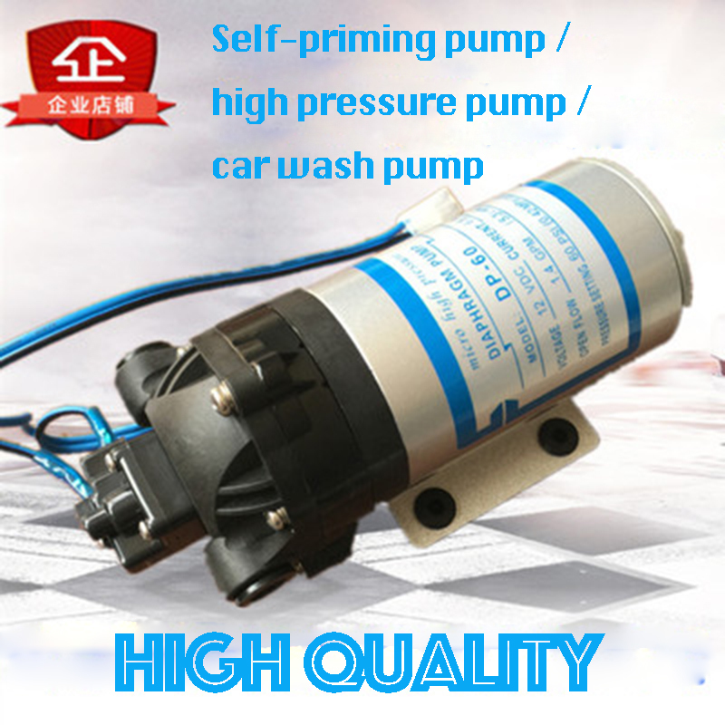 DP-60 12V High Pressure Water pump Micro Electric Diaphragm Pump Large Flow Self-Priming Pump 60PSI 12v 60psi 1 3 gpm diaphragm pump boat rv water pressure self priming pump