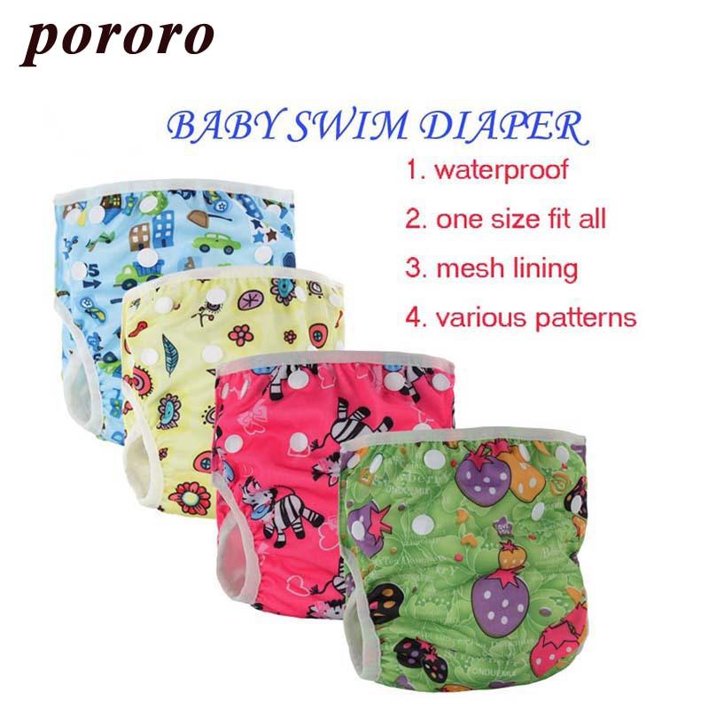 Wholesale Reusable Diaper Cover Swim Diaper 20Pcs/Bag Swimsuit Nadar Fralda Training Pants Size Adjustable Baby Swim Diaper
