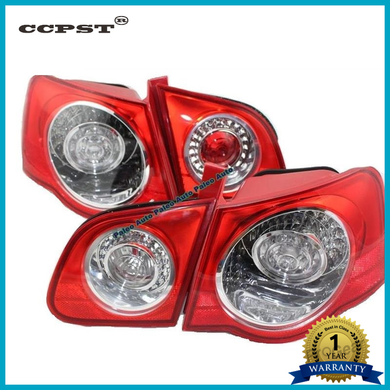 For VW Passat B6 Sedan 2006 2007 2008 2009 2010 2011 New LED Rear Tail Light Lamp Left-hand Trafic Only free shipping for skoda octavia sedan a5 2005 2006 2007 2008 left side rear lamp tail light