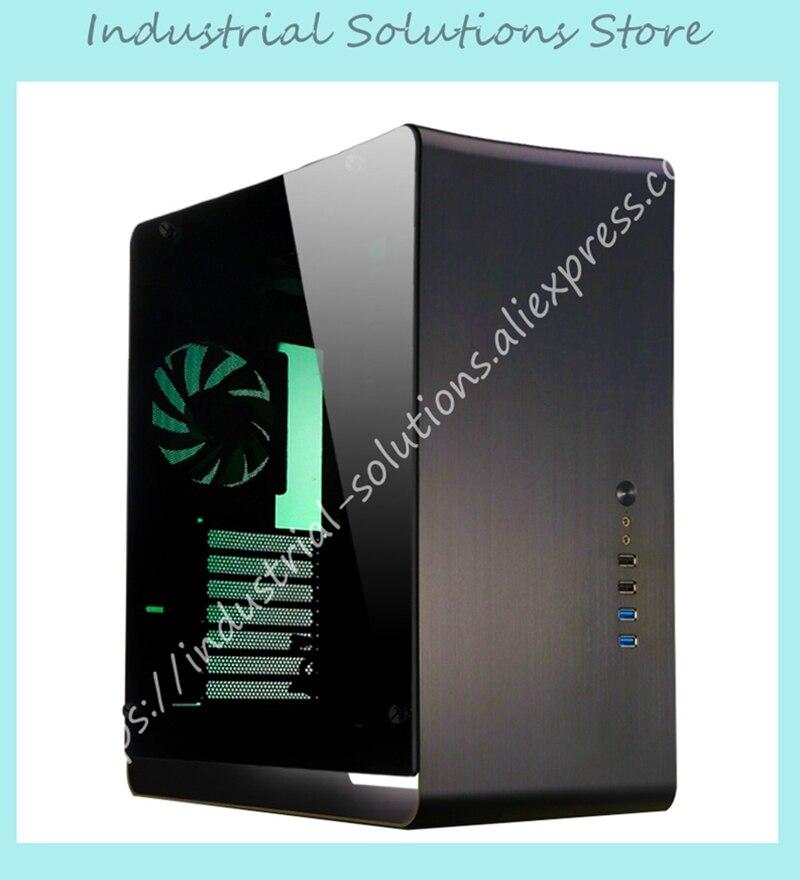 Новый компьютерный чехол UMX4 черный atx алюминиевый закаленное стекло сбоку прозрачная версия крупнопанельные JONSBO шасси