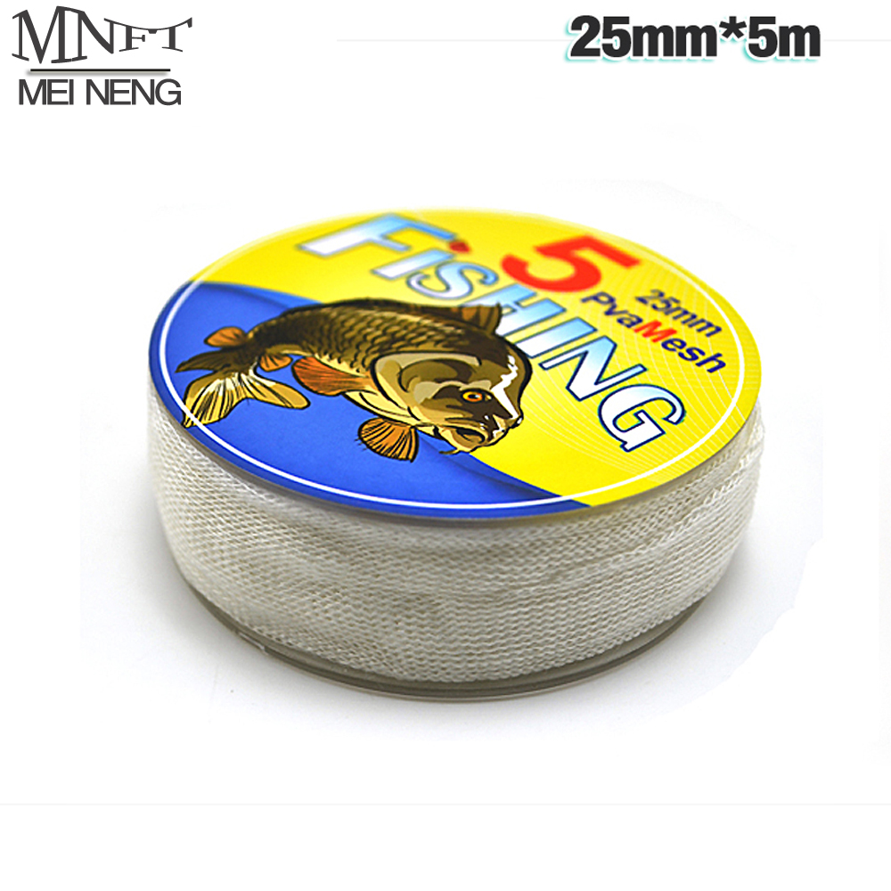 MNFT Hot Sale In Spool PVA Mesh Refill Carp Fishing 25mm*5m for Carp Fishing PVA Bag Free Boilie Bait Cast Mesh for Hair Rig паяльник bao workers in taiwan pd 372 25mm