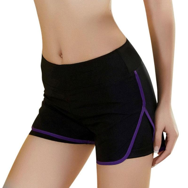 Women   Shorts   Casual Loose Cotton Contrast Binding Side Split Elastic Waist   Short   Pants Fashion Female VM