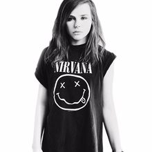 07ae23cc0 Nirvana T-shirts Women Summer Tops Tees T Shirt Girl Loose O-neck Short  Sleeve Fashion Tshirts Womens Plus Size Clothing Xxxl