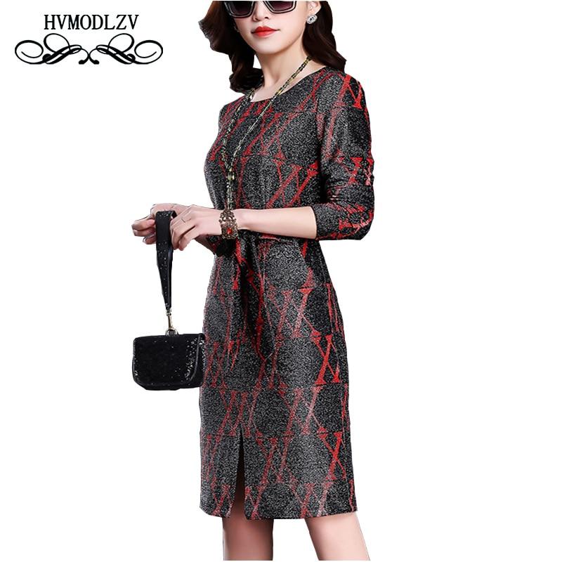 2018 Новый сезон: весна–лето с длинным рукавом Большие размеры платье Топ Шелковый модные высококачественные Для женщин платье с принтом