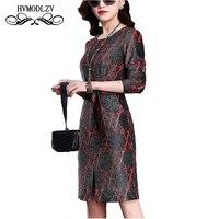 2018 Nowa Wiosna Lato Z Długim rękawem Plus rozmiar Sukni Góry jedwabiu Mody Wysokiej jakości Kobiety Print dress Vestidos de fiesta lj699