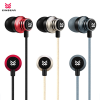 Original EINSEAR T2 In Ear Earphone 3 5MM Stereo In Ear Headset Dynamic Earbuds Aerospace Aluminum