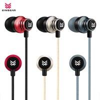 Original EINSEAR T2 In Ear Earphone 3.5MM Stereo In Ear Headset Dynamic Earbuds Aerospace aluminum alloy Earphone for all phones
