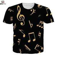 Música nota 3D imprimir Piano camisetas hombres mujeres 2019 Casual camisetas de manga corta Camisetas hombres Hip Hop Streetwear