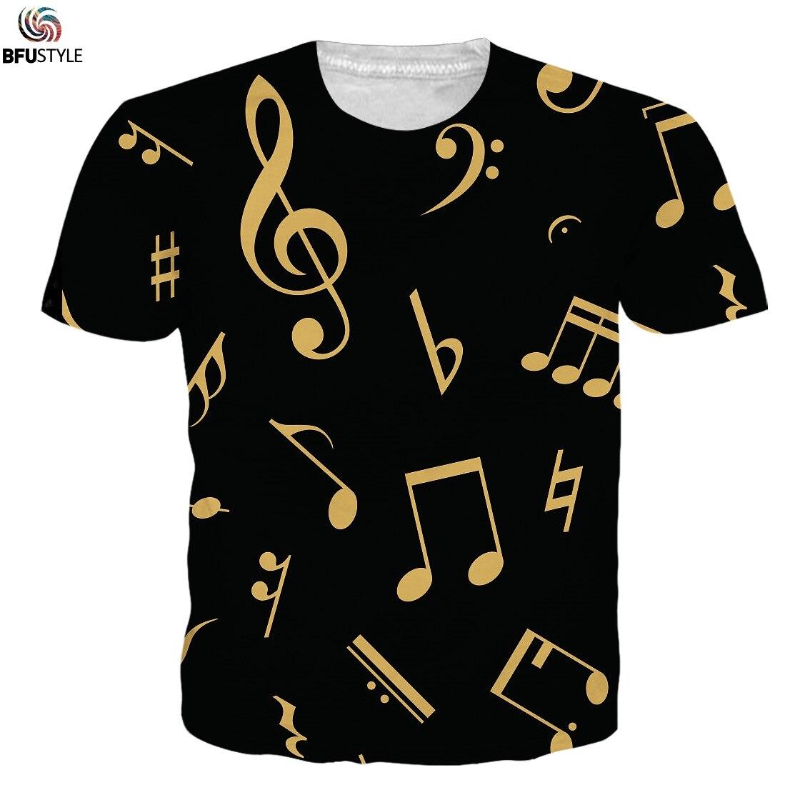 Musik Hinweis 3D Drucken Klavier T-shirts Männer Frauen 2019 Casual T Shirts Kurzarm Tees Tops Männer Hip Hop Streetwear