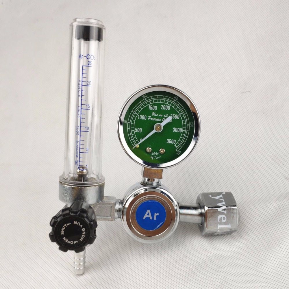 Gas Regulator Flowmeter For MIG/MAG TIG Welding 0-25 Mpa Argon CO2 Helium Nitrogen Gas Meter Guage