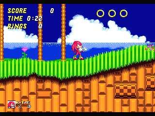 Knuckles The Echidna In Sonic The Hedgehog 2 Game Cartridge Newest 16 bit Game Card For Sega Mega Drive / Genesis System