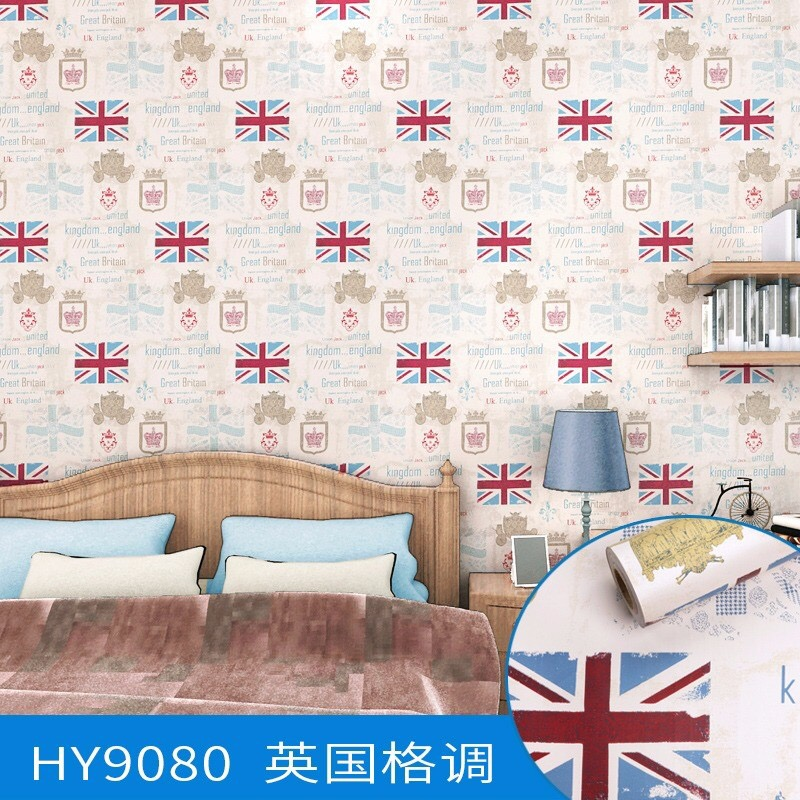 UK And Floral Self Adhesive Vinyl Decorative Wallpaper Papel De Parede Wall Stickers For Room Decoration 045m10m In Wallpapers From Home