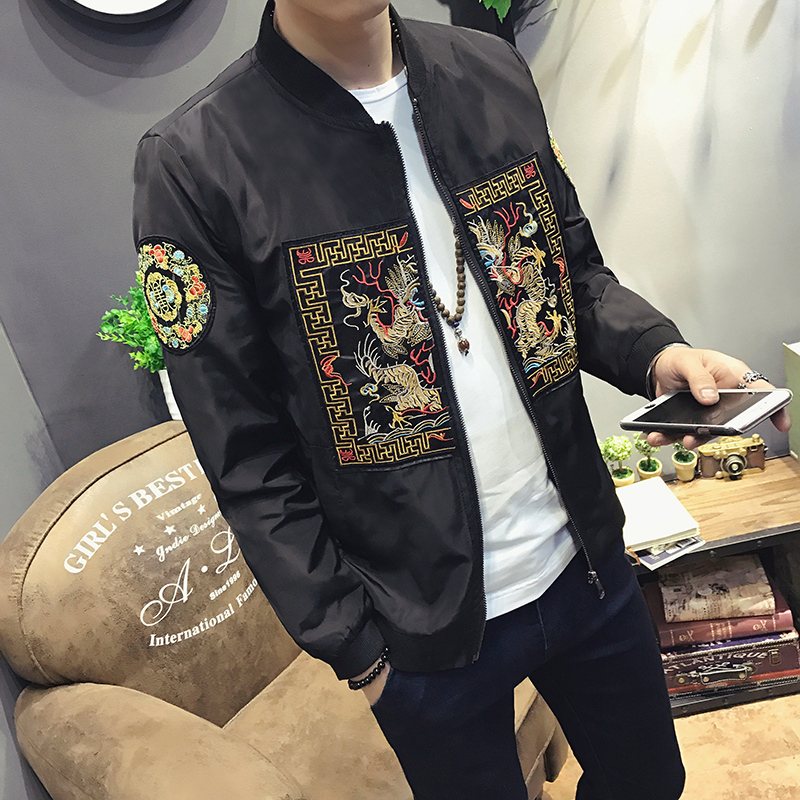 Spring Autumn Bomber Jacket Män 2019 New Fashion Chinese Long Pao - Herrkläder - Foto 4