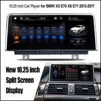 10.25 дюймов Мультимедийные плееры для автомобиля для BMW X5 E70 X6 E71 2013 2017 с GPS навигации MP5 подходят оригинальный НБТ Системы