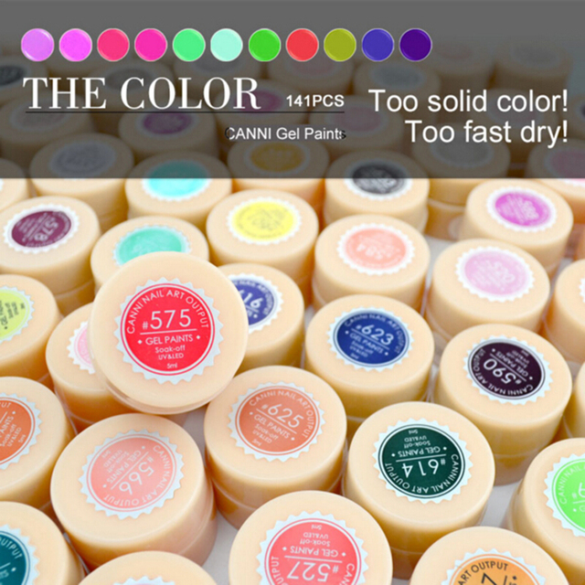 CANNI Nail Painting Gel Varnish Pure Colors Gel Polish UV LED Soak Off