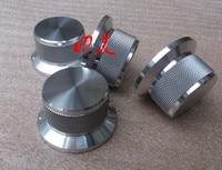 Diameter 44mm Shank Diameter 34mm High 25mm All Aluminum Alloy Solid Volume Knob Audio Power Amplifier