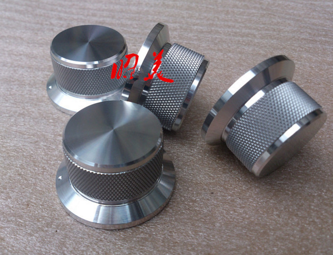 Diameter 44mm,Shank Diameter 34mm,high 25mm All-aluminum Alloy Solid Volume Knob Audio Power Amplifier Potentiometer Knob HIFI