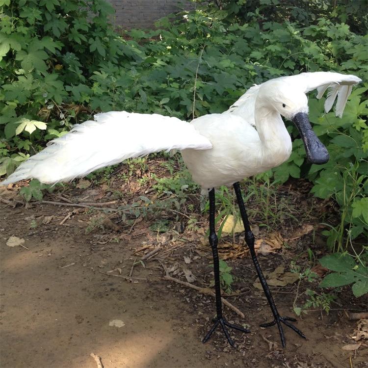 big simulation wings Egrets model foam & furs white Egrets gift about 80x63cm 1714 big sitting simulation white cat model plastic