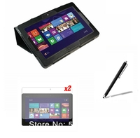 4in1 Luxury Magnetic Folio Stand Leather Case Cover 2x Screen Protector Stylus For ASUS Win8 VivoTab