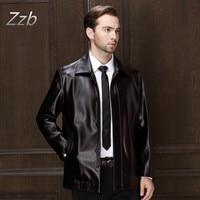 Lederjacke Men Leather Jacket Leather Jacket Da Mềm Nam Kinh Doanh bình thường Áo Khoác Chaqueta de cuero veste en cuir giacca di pelle