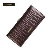 Long Wallet Women First Layer Of Cowhide Female Wallets Zipper Genuine Leather Long Design Card Holder