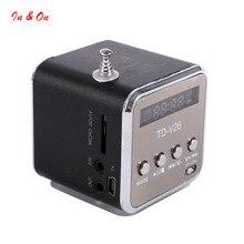 Micro USB Mini Estéreo portátil Super Bass Altavoz de la Música MP3/4 Radio FM 6 Colores