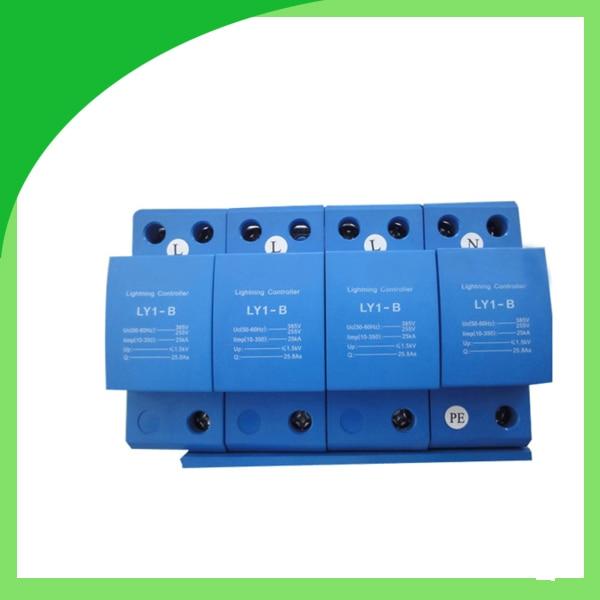 Ly1-B (10/350) 25ka 4pole Lightning Surge Protector Switch Type for AC Power ui b 385v 50ka 4pole surge absorber surge suppressor lightning surge protector