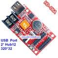 Huidu U6A,, u6A controlador de disco u, suporte 320*32, 2 pcs HUB12, apoio de uma cor, duas cores p10 levou módulo, mais barato 2.99 USD/PÇS