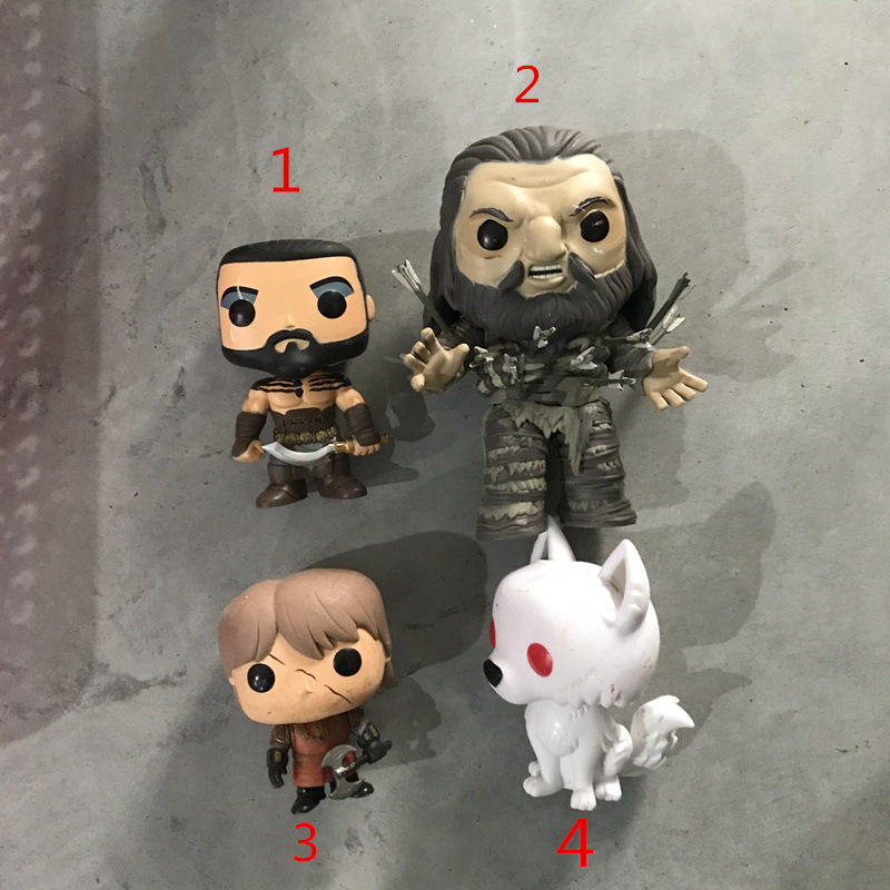 Funko pop Used Game of thrones - Khal Drogo, 6'' GOT - WUN W/ Arrows, Ghost Vinyl Action Figure Collectible Model Loose Toy image