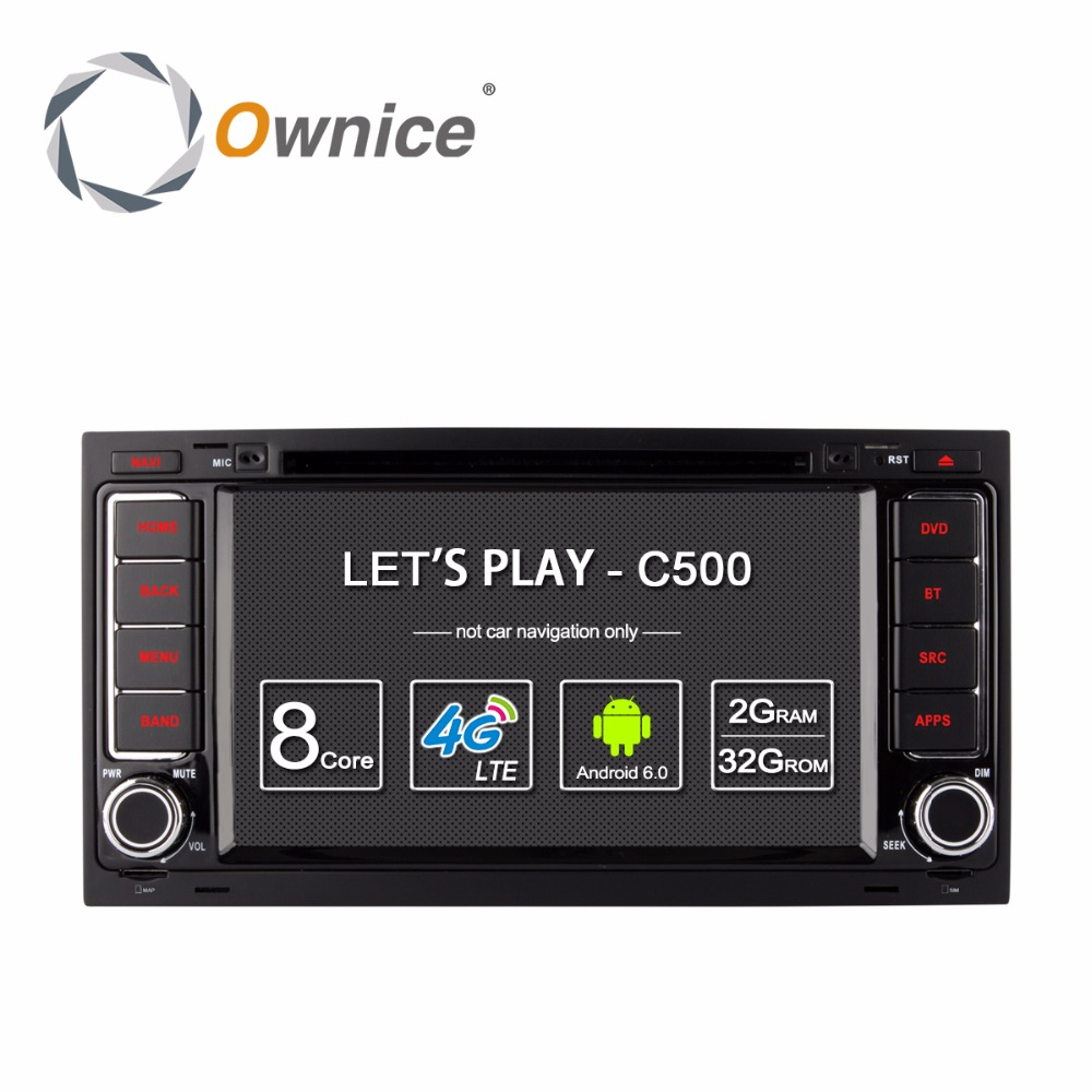 Ownice C500 Android 6 0 4G SIM LTE 2G RAM Car DVD GPS Radio for Volkswagen