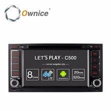 Ownice C500 Android 6.0 4G SIM LTE 2G RAM Coche DVD de Radio del GPS para Volkswagen Touareg Multivan T5 Transporter 2004-2011 estéreo