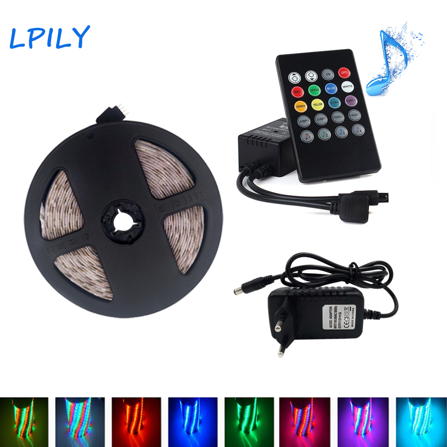 IPILY LED Strip 5M 10M SMD 2835 Non waterproof RGB Led Strip Light 20 keys IR remote Controller+DC 12V adapter 3528 lighting bob lolita cosplay charming capless brown short natural straight full bang synthetic wig for women