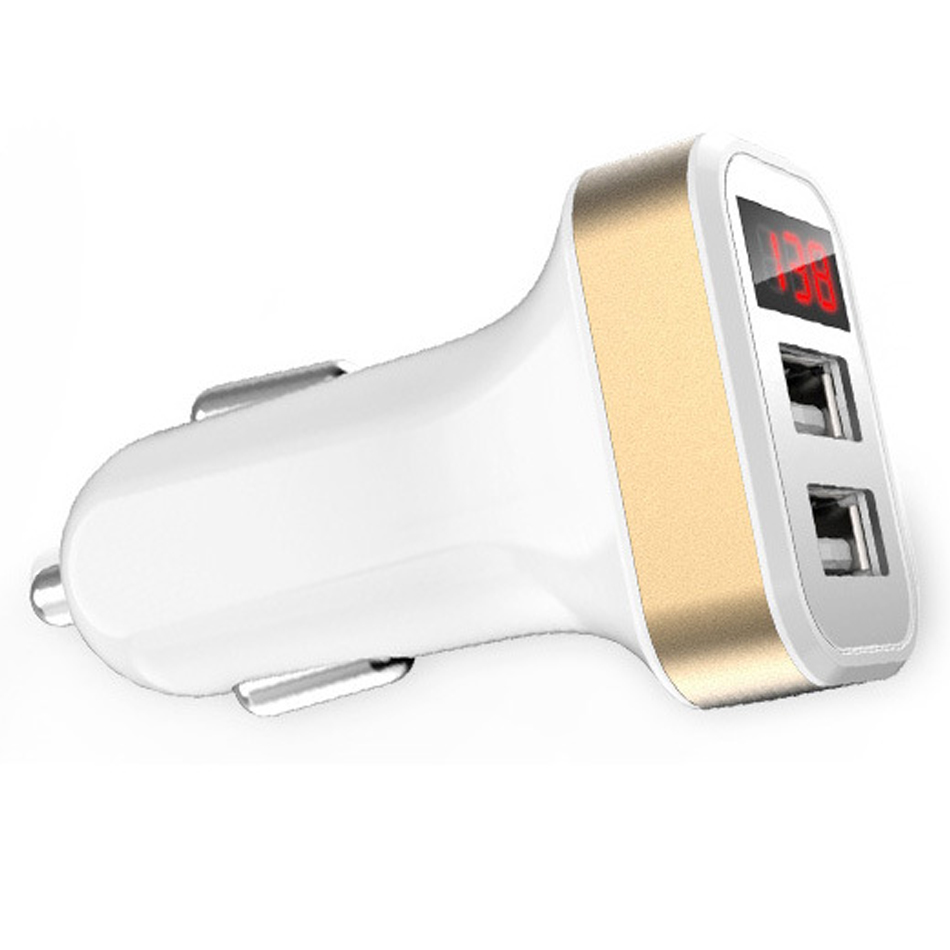 Car Charger Digital Display 2.1A Dual Port USB Charger Adapter for iPhone Samsung Xiaomi Huawei P20 lite USB Phone Charging10