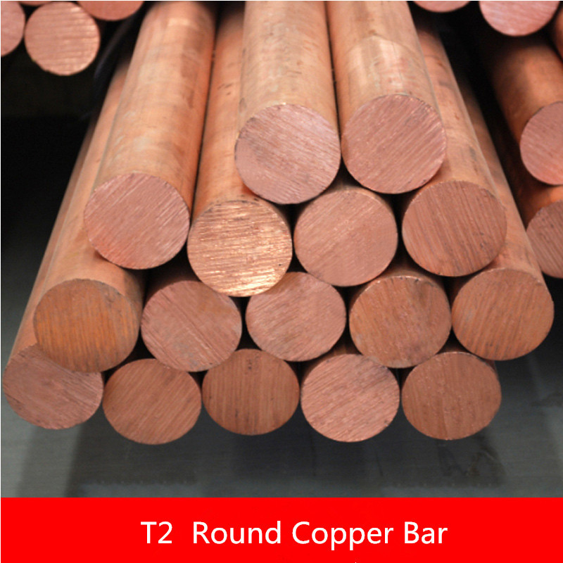 2PCS CT004 Copper Rod Length 100mm Diameter 12MM Copper Stick Sell at a Loss T2 Copper Bar цена