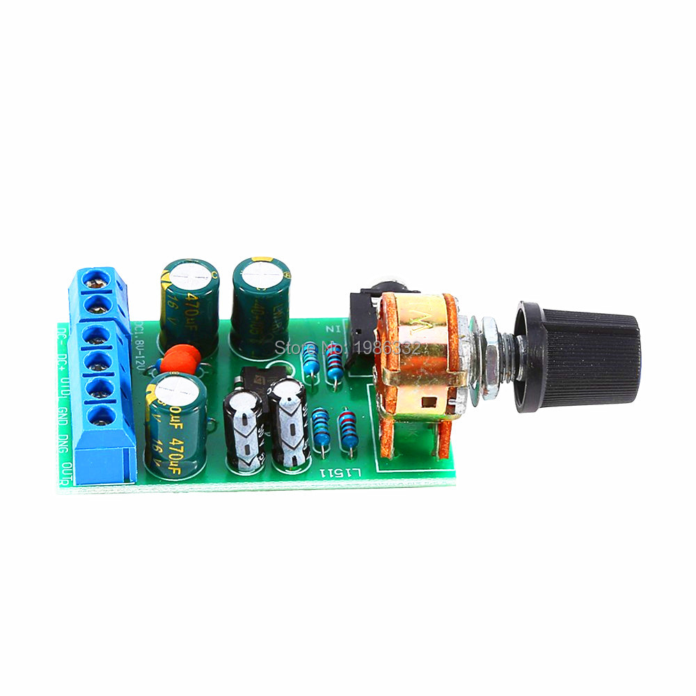 05w 10w Lm386 Audio Power Amplifier Board Dc 3v 12v 5v Mini Circuit With Ic Schematic Diagram Ws16 Dc18 Tda2822m Dual 20 Channel Stereo 35mm