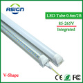 V-Shape LED Bulbs Tubes T8 600mm 20W 2 Feet Led Integrated Tube Light 2FT AC85-265V 96LEDs SMD2835 LED Light Super Bright 2000lm
