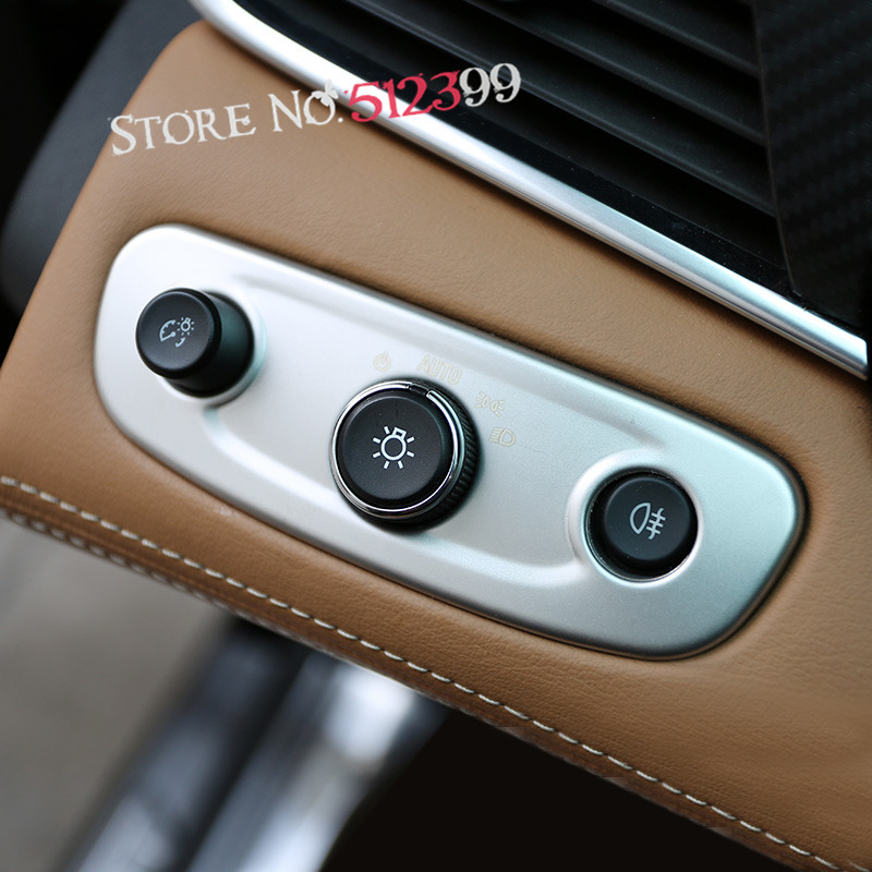 1 * Хром Матовый Интерьер свет фар регулировки крышки Накладка для Opel/Holden ZB Commodore/Vauxhall Insignia 2017 2018