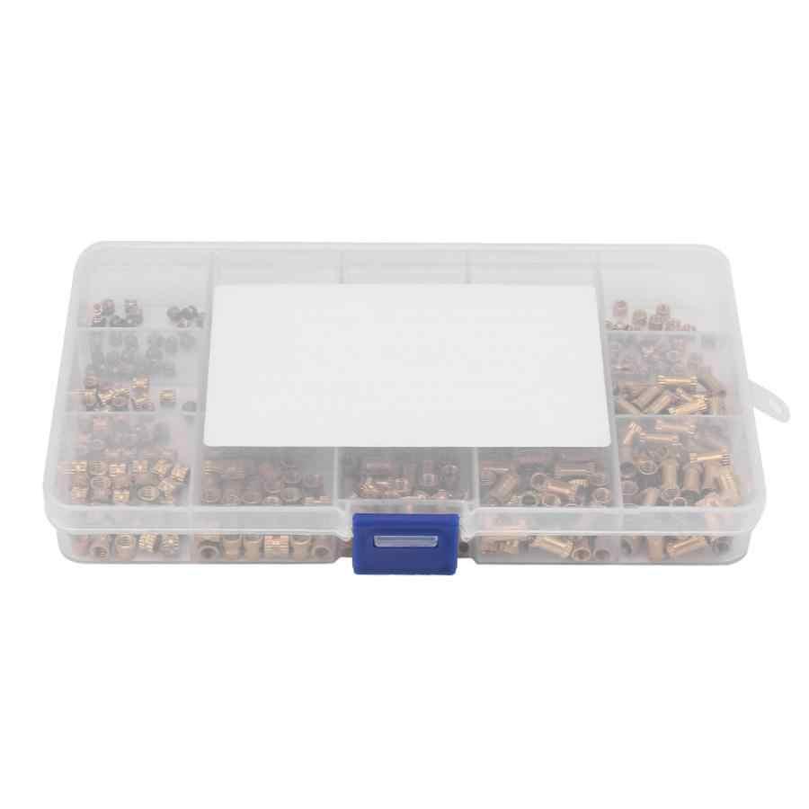 ナット 450 個の成形インサートに組み込みナットローレット真鍮ナット固定アクセサリーラウンドナット