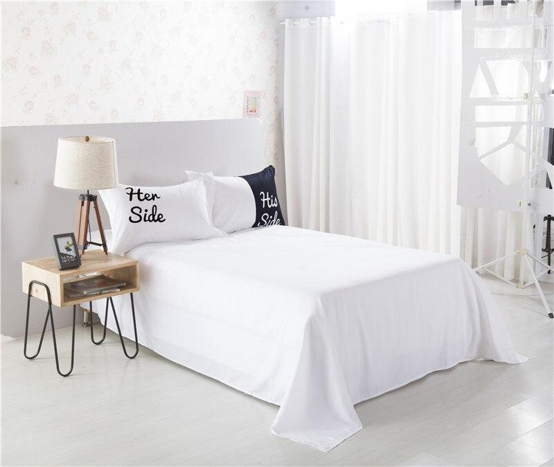Ihre Seite Seiner Seite Bettwäsche Sets Königinking Size Paar