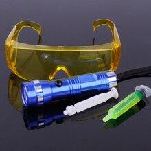 Beler автомобиль 14 светодиодный детектор утечки света детектор комплект защитные очки с флюоресцентное масло Кондиционер A/C Газ УФ