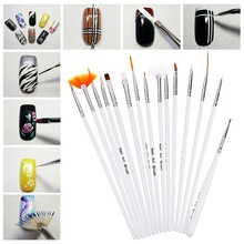 15pcs/set nail art color drawing brushes for manicure tools nail design pen finger decoration professional painting pen