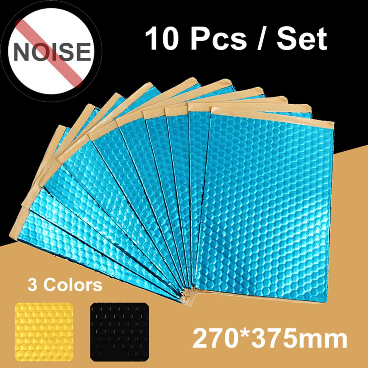 10 Sheets 2mm Car Van Sound Proofing Deadening Vibration Automobiles Heat Noise Shield Insulation Cotton Damping Mat 230x400mm