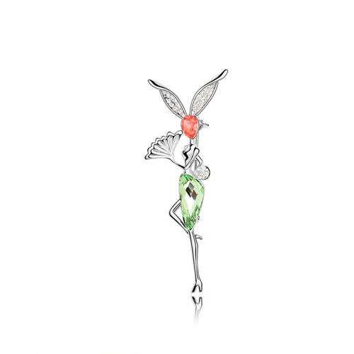 ANKA рисунок Кристалл Броши морской эльф булавка Кристалл ювелирные изделия цветы эльфы Главный Камень Кристаллы из Австрия#87560 - Окраска металла: 87558