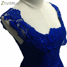 ZTVitality Elegant Lace Patchwork Solid Sleeveless A-Line Dress